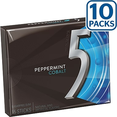 Wrigley's™ 5 Sugar-Free Gum, 10 Packs/Box