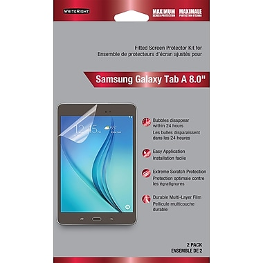 Protecteur d'écran WriteRight pour Samsung Galaxy Tab A 8 po, protection maximale, paq./2