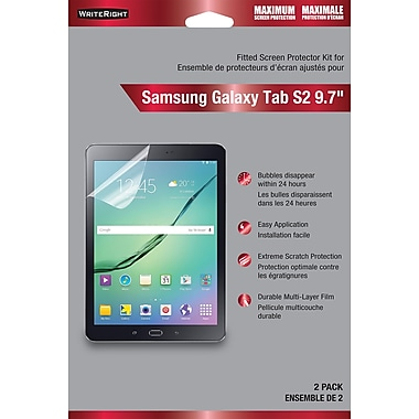 Protecteur d'écran WriteRight pour Samsung Galaxy Tab S2 9,7 po, protection maximale, paq./2