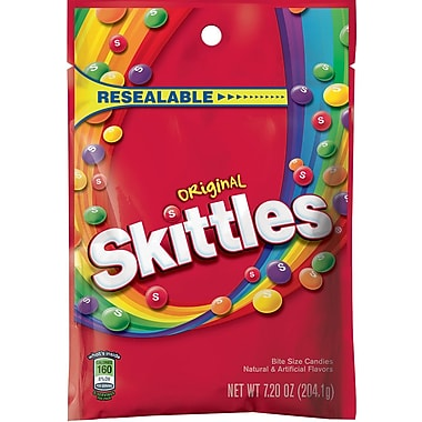Skittles® Original Fruit Flavored Candy Peg Bag, 7.2 oz. Bags, 12 Bags/Pack