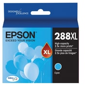 Epson T288XL Cyan DuraBrite Ultra Ink Cartridge, (T288XL220) High Yield