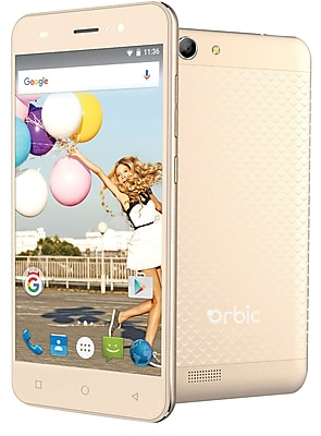 Orbic Slim Unlocked 5 4G LTE Android Smartphone -- Gold