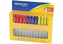 Westcott® 04252/Kids Value Scissors, Blunt Tip, 5' Kleencut, Assorted Colors, 12 Pack