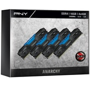 PNY Anarchy 16GB Kit (4x4GB) DDR4 2400MHz (PC4-19200) CL15 Desktop Memory (BLUE)