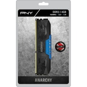 PNY Anarchy 4GB DDR3 1600MHz (PC3-12800) CL9 Desktop Memory (BLUE)