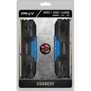 PNY Anarchy 16GB Kit (2x8GB) DDR3 1600MHz (PC3-12800) CL9 Desktop Memory (BLUE)