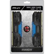 PNY Anarchy 8GB Kit (2x4GB) DDR3 1866MHz (PC3-14900) CL10 Desktop Memory (BLUE)