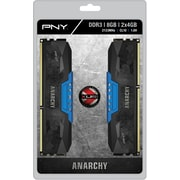 PNY Anarchy 8GB Kit (2x4GB) DDR3 2133MHz (PC3-17000) CL10 Desktop Memory (BLUE)