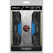 PNY Anarchy 16GB Kit (2x8GB) DDR3 2133MHz (PC3-17000) CL10 Desktop Memory (BLUE)