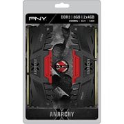PNY Anarchy X 8GB Kit (2x4GB) DDR3 2400MHz (PC3-19200) CL11 Desktop Memory (RED)