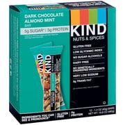 KIND Dark Chocolate Almond and Mint Bar, 12/Box