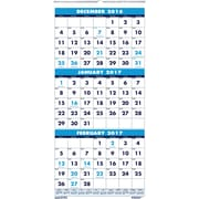 2017 House of Doolittle 8 x 17 Three Month Wall Calendar (HOD3646)