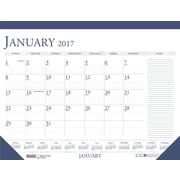 2017 House of Doolittle 22 x 17 Two Color Desk Pad Calendar Blue/Gray (HOD164)