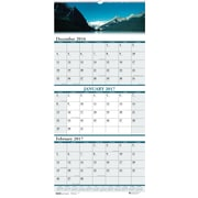 2017 House of Doolittle 12.25 x 26 Scenic Three Month View Wall Calendar Earthscapes (HOD3638)