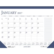 2017 House of Doolittle 18.5 x 13 Two Color Desk Pad Calendar Blue/Gray (HOD1646)