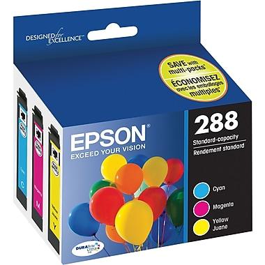 Epson – Cartouches d'encre 288 DURABrite Ultra (T288520-S), couleurs assorties, capacité standard