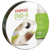 Staples 10PK DVD-R 16X 4.7GB Puck