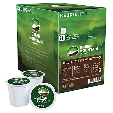 Keurig® K-Cup® Green Mountain® Regular Coffee Variety Sampler, 22 Pack