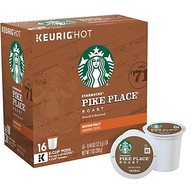 Keurig® K-Cup® Starbucks® Pike Place® Roast Coffee, Regular, 16 Pack