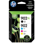 HP 902XL/902 High Yield Black and Standard C/M/Y Color Ink Cartridges (T0A39AN#140), Combo 4/Pack