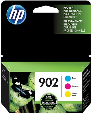 HP 902 C M Y Color Ink Cartridges T0A38AN 140 Combo 3 Pack