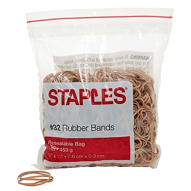 Staples® Economy Rubber Bands, Size #32, 1 lb.