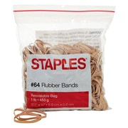 Staples® Economy Rubber Bands, Size #64, 1 lb.