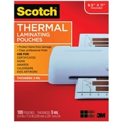 Scotch™ Thermal Laminating Pouches, Letter Size, 5 mil, 100 Pouches/Pack (TP5854-100)