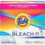Tide® Plus Bleach Laundry Detergent Powder HEC, 144 oz.