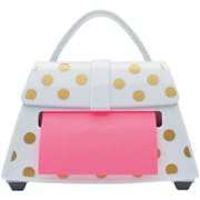"Post-it® Pop-up Notes Dispenser for 3"" x 3"" Notes, Purse Shape, White with Gold Dots (PD-654-US-GD)"