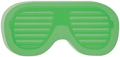 Post it Super Sticky Notes 3 x 3 Green Sunglasses Shape 2 Pads Pack 2050 SUN SL