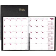 "Brownline® 2017 CoilPro™ Monthly Planner, 14 Months, 11"" x 8-1/2"", Hard Cover, Black (CB1262C.BLK)"