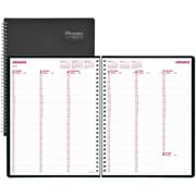 "Brownline® 2017 DuraFlex Weekly Planner, 11"" x 8-1/2"",  Durable Poly Cover,Black (CB950V.BLK)"