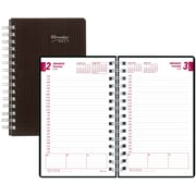 "Brownline® 2017 DuraFlex Daily Planner, 8"" x 5"",  Durable Poly Cover,Black (CB634V.BLK)"