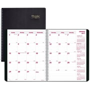 "Brownline® 2017 DuraFlex Monthly Planner, 14 Months, 8-7/8"" x 7-1/8"", Durable Poly Cover, Black (CB1200V.BLK)"