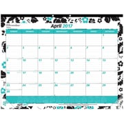 "2017 Brownline® 22"" x 17"" Monthly Desk Pad Calendar, Blossom Design(C194112)"