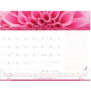 "2017 Brownline® Pink Ribbon 22"" x 17"" Monthly Desk Pad Calendar(C1832PNK)"