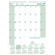 2017 Brownline EcoLogix 12 inch x 17 inch Monthly Wall Calendar, Recycled Paper(C171103) by