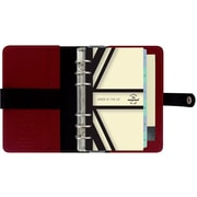 "Filofax® 2017,  Personal Size,  7-1/2"" x 5-1/2"", Thick Leather, Retro Red (C022380)"