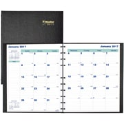 "Blueline® 2017 MiracleBind™ Monthly Planner, 17 Months, 11"" x 9-1/16"", Hard Cover, Black (CF1512C.81)"