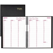 "Brownline® 2017 CoilPro™ Hard Cover Weekly Planner, 11"" x 8-1/2"",Black (CB950C.BLK)"