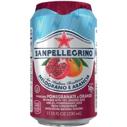 SANPELLEGRINO Sparkling Fruit Beverages, Pomegranate Orange 11.15 ounce Can, 24/Pack
