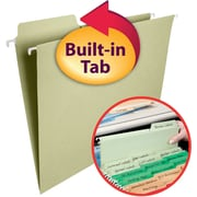 Smead FasTab® Hanging File Folders, 1/3-Cut Built-in Tab, Letter Size, 15 per Box (64084)