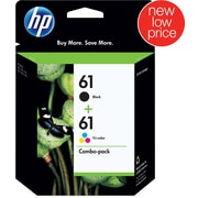 HP 61 Black and Tricolor Ink Cartridges (CR259FN), Combo 2/Pack