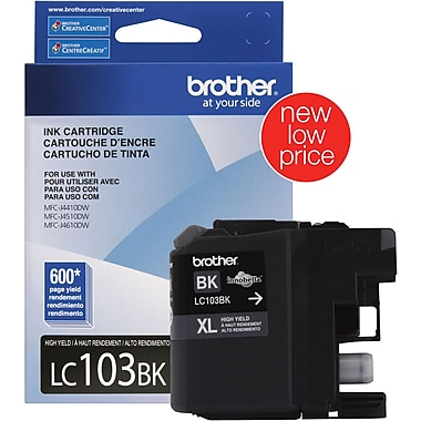 Brother Ink Cartridge, Black, High Yield (LC103BK)