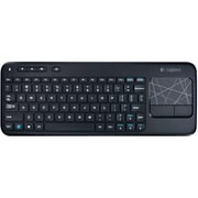 Factory Recertified Logitech K400 Plus Wireless Touch Keyboard with Built-in Trackpad, Black (920-007119-RB)