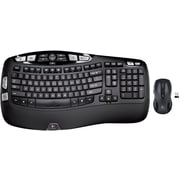 Factory Recertified Logitech MK550 Wireless Desktop Wave Keyboard and Laser Mouse Combo (920-002555-RB)