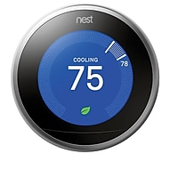 Nest Third Generation Wi-Fi Learning Thermostat for Android/iOS (T3007ES) + $40 Kohls Cash