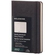 "2017, Moleskine, Pocket 3.5"" x 5.5"", 12M Weekly Notebook, Jan - Dec 2017, Black, Hard Cover (8051272893311)"