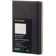 "2017, Moleskine, Large 5"" x 8.25"", 12M Weekly Notebook, Jan - Dec 2017, Black, Hard Cover (8051272893342)"